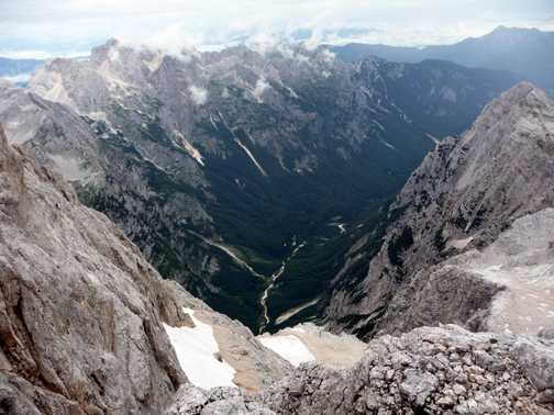 Views from the summit of Triglav
