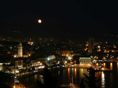 Night time over Split