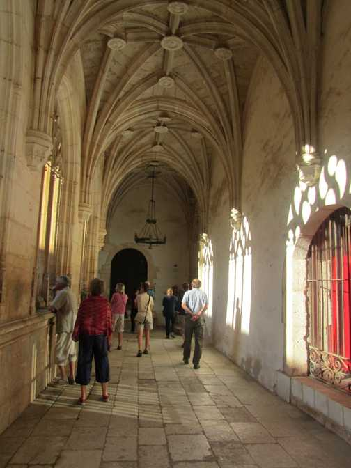 In the cloisters