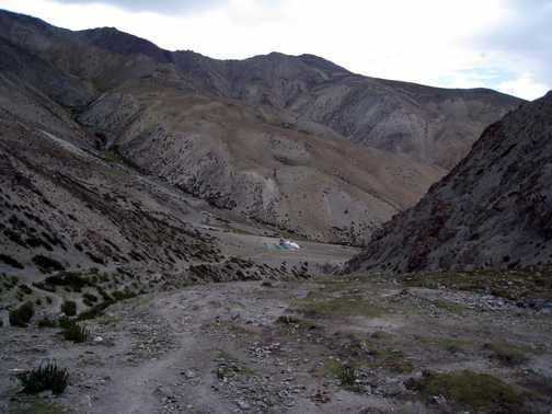 Camp belowthe Ganda La