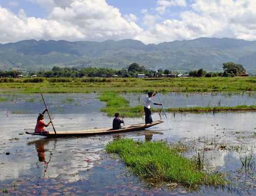 Local transportation near Inle Lake