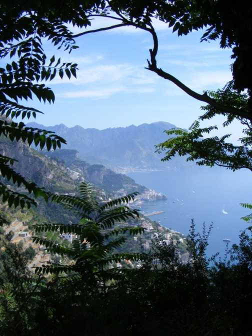 view towards Amalfi