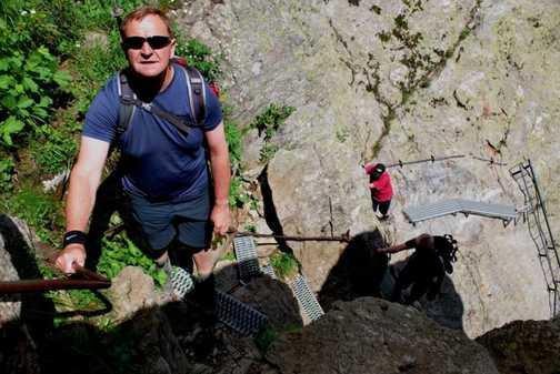 The climb up to Lac Blanc