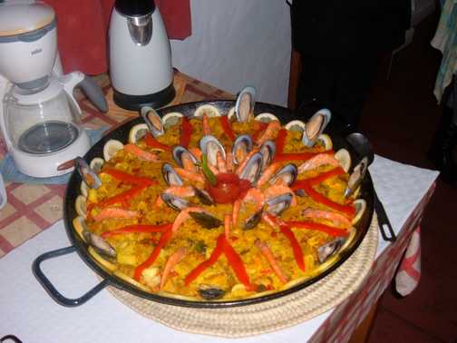 Paella on our last night