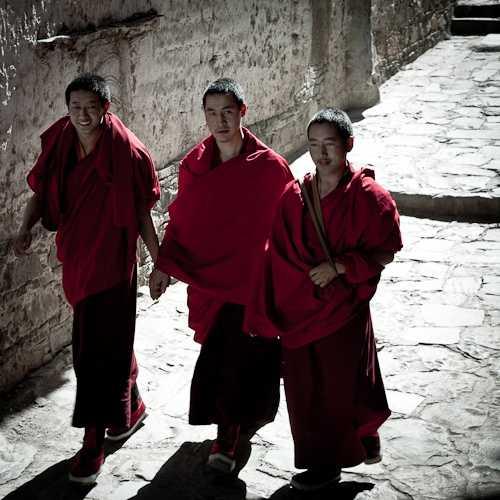 Lone Monk at Tashillunpo Monastery, Shigatse