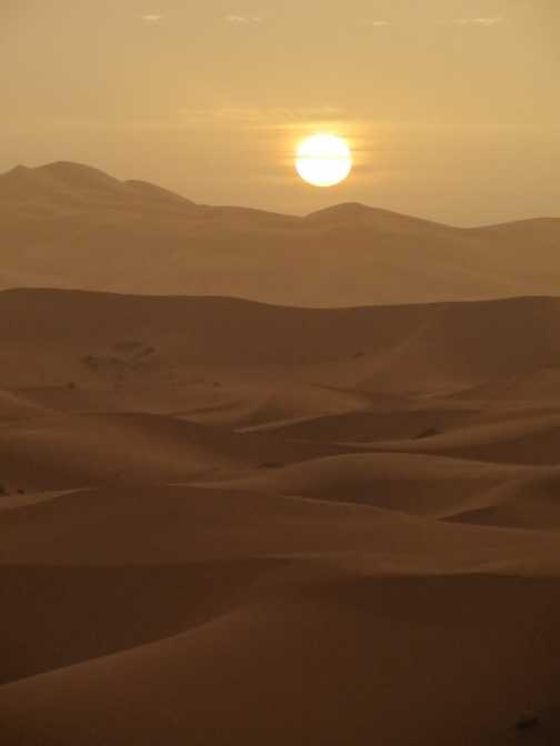 ...and Sahara sunset
