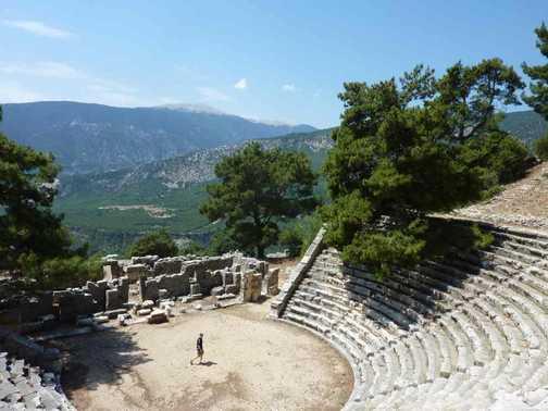 Arycanda theatre