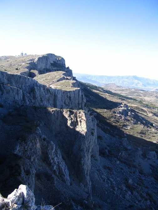 Aitana crvasses from ridge
