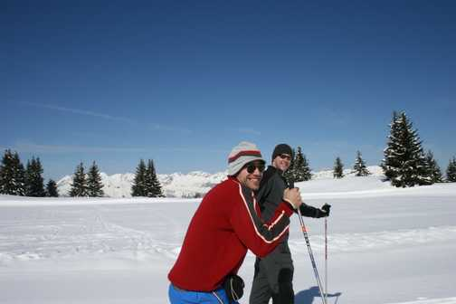 Happiness is - skiing with Dave at your side!