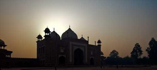 Me and the Taj mahal at sunrise.