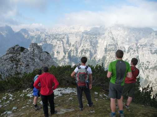 Day 6 - Our last view of Triglav from Mt Brida