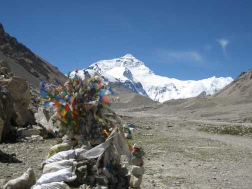 Prayer flags and Everest