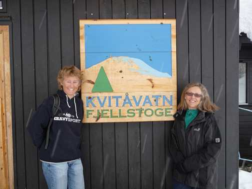 Trevor and Dave in the ski store