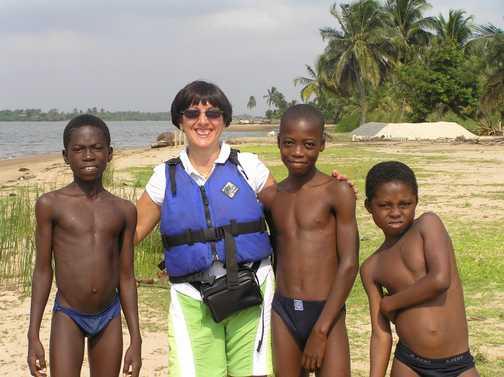 Canoeing in Ghana