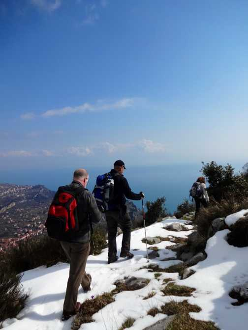Snow on Monte Tre Calli