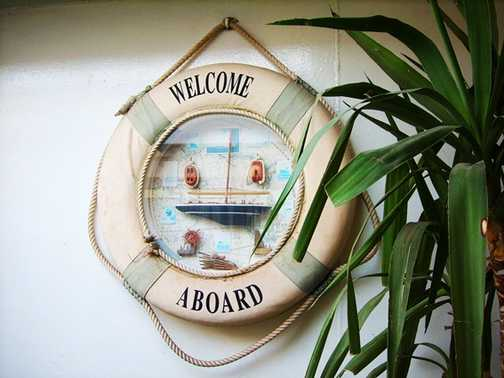 Welcome aboard the cruise ship