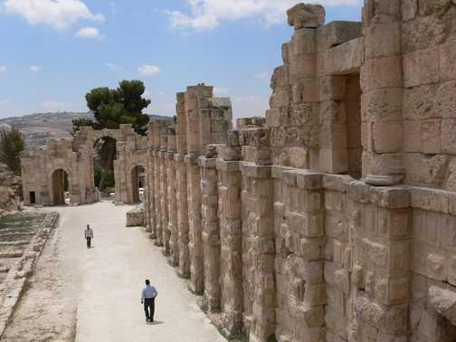 Ruins in Jerash