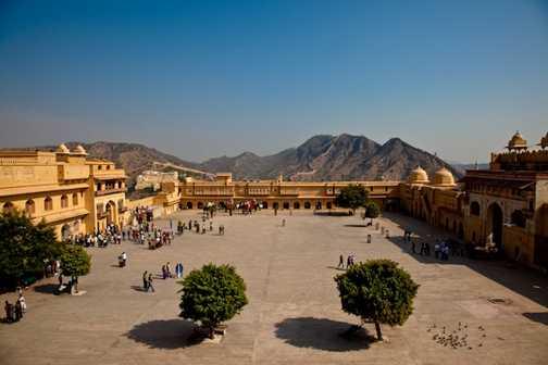 Amber Palace courtyard, Japiur