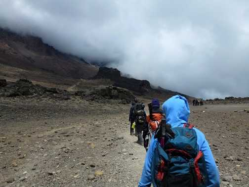 view of Kili from Barranco camp
