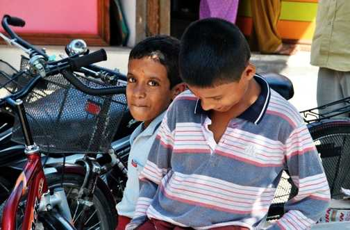 Laughing with the locals