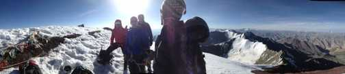 First moments on the summit