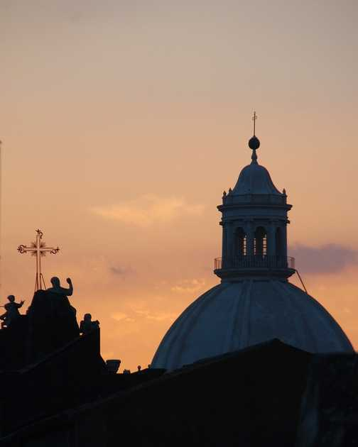 Dawn in Catania