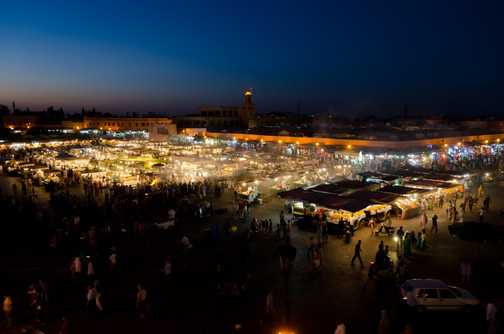 Street food in the Jemaa El Fna square