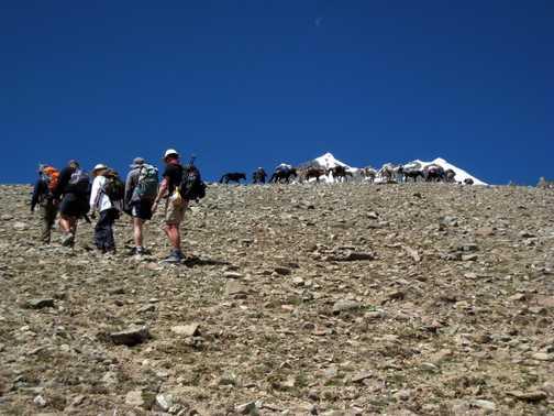Approaching Stok Kangri Base Camp
