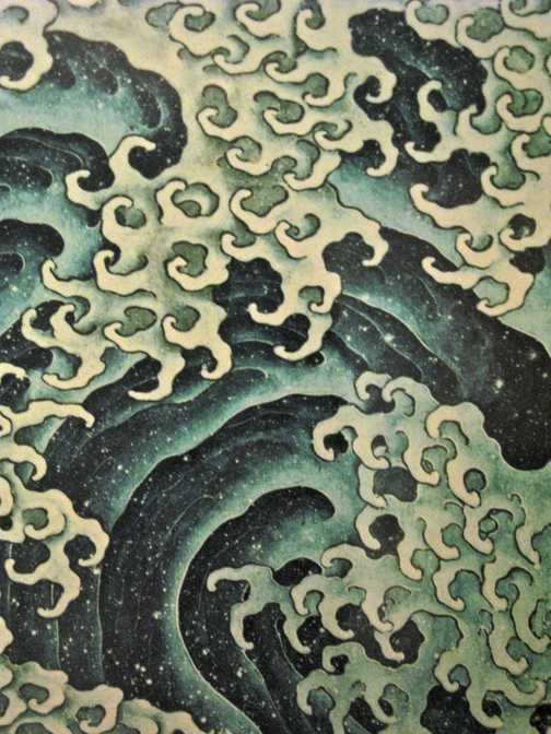 Hokusai Museum, male and female wave