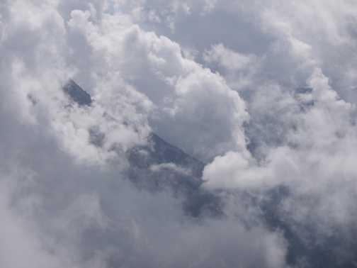 Clouds roll in on the PadasterKogel