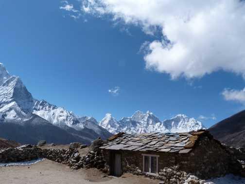 Everest peak on the left