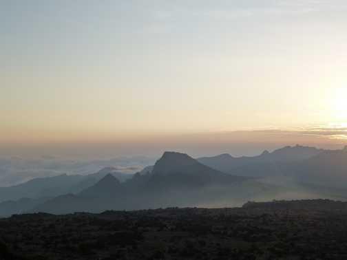 sunset Shira 2 camp