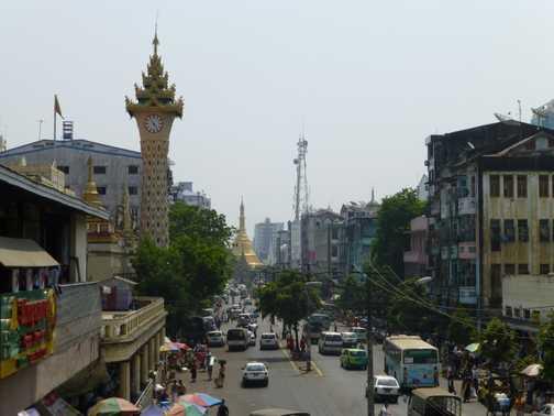 Street scene, central Yangon