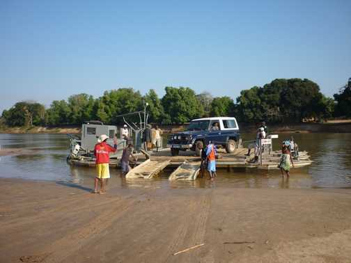 Ferry over the Manambolo River