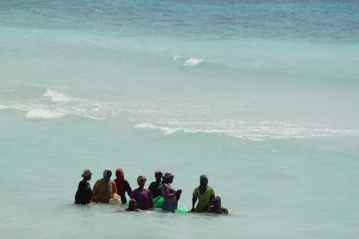 local women fishing - Zanzibar