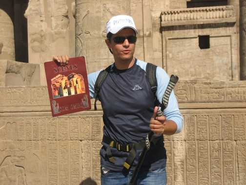 Our leader (Mo) at Kom Ombo Temple