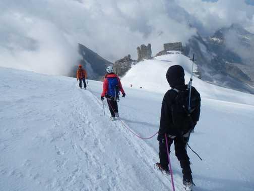 Walking off the mountain