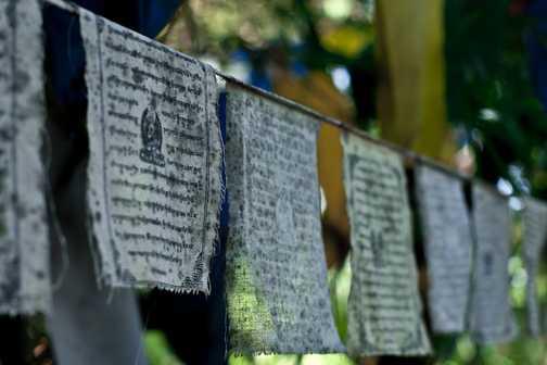 Prayer flags @ the Norbulingka Institute
