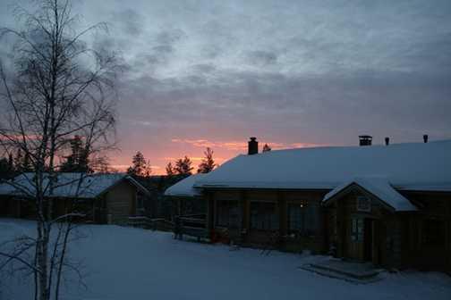 Basecamp Oulanka Sunset