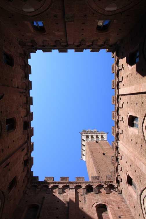 Sienna tower view