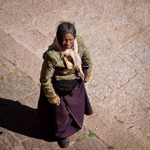 Tibetan Pilgrim, Drepung Monastery