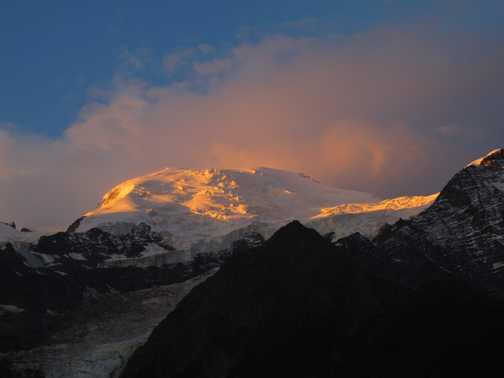 Dawn over Mont Blanc
