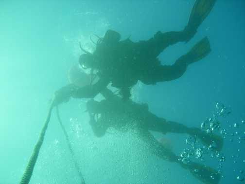 Diving in Scapa Flow Scotland 2006