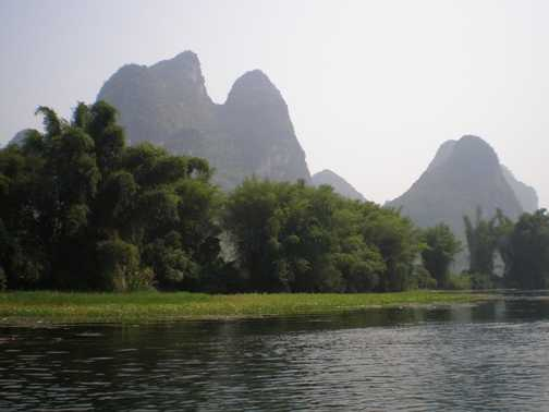 Bamboo rafting on the Li River