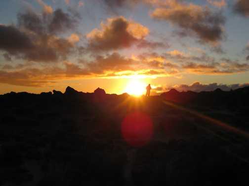Sunset in the Tongariro National Park