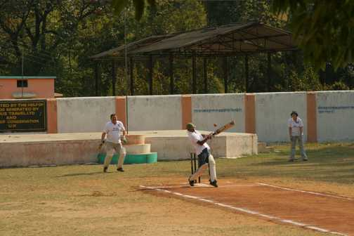 The Cricket match in full swing