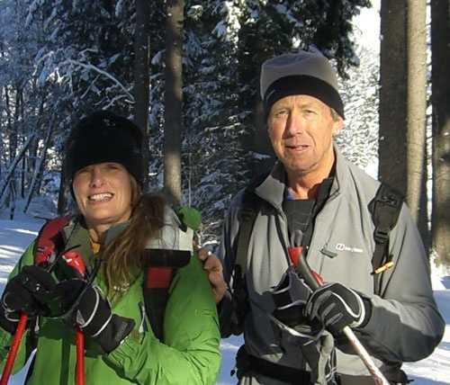 Oliver and Elaine skiing Chamonix