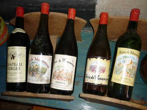 Local wines of Fianarantsoa area
