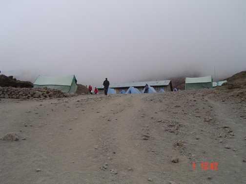 Entrance to Kibo Hut