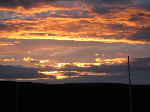 Sunset at Kerlingarfjöll campsite
